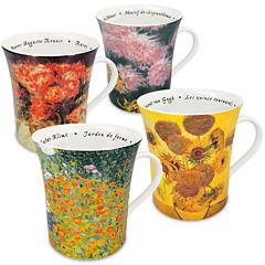 Konitz Les Fleurs Chez Set of 4 Mugs