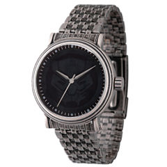 Marvel Mens Silver Tone Strap Watch-Wma000204