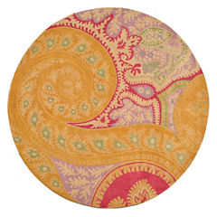 Eastern Rugs Hand-tufted Contemporary Abstract Paisley Round Rug