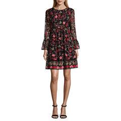 Weslee Rose Long Sleeve Fit & Flare Dress