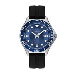 Caravelle Mens Black Strap Watch-43b155