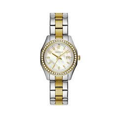Caravelle Womens Two Tone Bracelet Watch-45m113