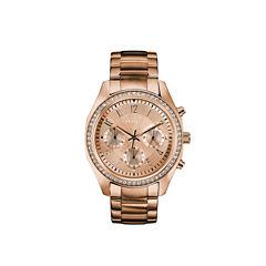 Caravelle Womens Rose Goldtone Bracelet Watch-44l240