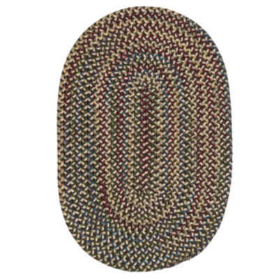 colonial mills andreanna reversible braided oval rug - 5x8 Rugs