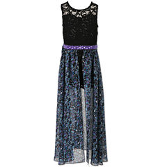 Speechless Sleeveless Floral Maxi Dress - Big Kid Girls