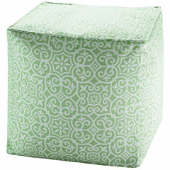 Madison Park Morro 3M Scotchgard Outdoor Pouf