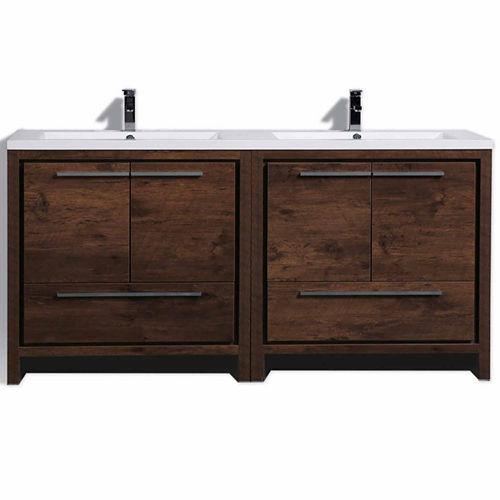 Moreno Bath MOD 72 Free Standing Modern BathroomVanity with 4 Doors 2 Drawers and Reeinforced Double Acrylic Sink