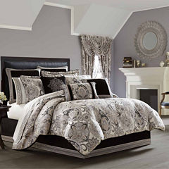 Queen Street Giselle 4-pc. Damask + Scroll Midweight Comforter Set