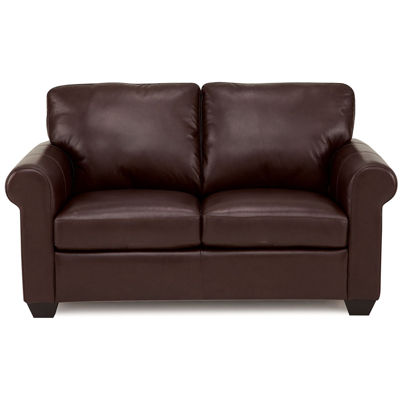 Leather Possibilities Roll Arm Loveseat