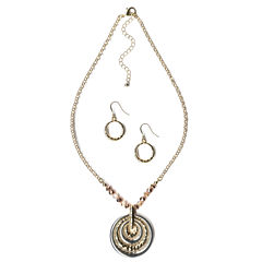 Mixit Womens 2-pc. Brass Jewelry Set