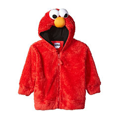 Sesame Street Toddler Girls Elmo Costume Hoodie with Faux Fur and 3D Face