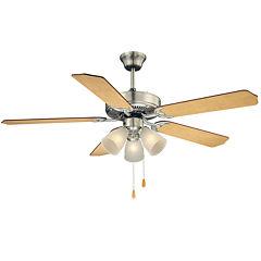52in Satin Nickel Indoor Ceiling Fan