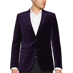 J.Ferrar Slim Fit Velvet Sport Coat