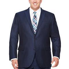J.Ferrar Stripe Classic Fit Stretch Suit Jacket-Big and Tall