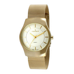 Peugeot® Mens Gold-Tone Stainless Steel Mesh Watch 1002G