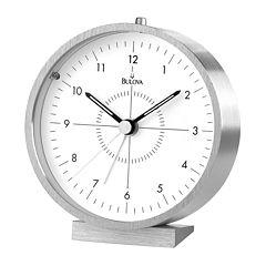 Bulova® Flair Travel Silver-Tone Alarm Clock