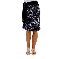 24/7 Comfort Apparel Bel Jardin Faux Knit Wrap Skirt