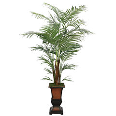 Laura Ashley 84 Inch Tall Silk Areca Palm Tree With Planter