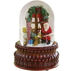 Roman Santa In Window Snow Globe