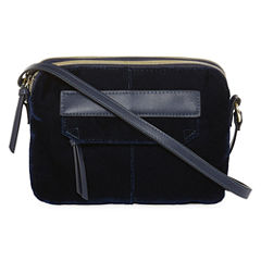 Velvet Double Zip Crossbody Bag