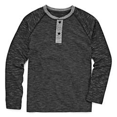 Arizona Long Sleeve Round Neck T-Shirt-Big Kid Boys