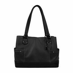 Mundi Rio Leather Shopper Shoulder Bag