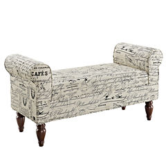 Lillian Fabric Bench