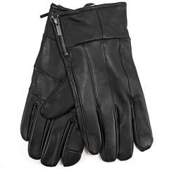 Collection by Michael Strahan Leather Gloves with Zipper