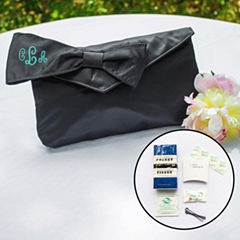 Cathy's Concepts Black Bridesmaid Clutch with Survival Kit
