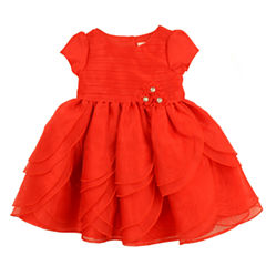 Nanette Baby Short Sleeve A-Line Dress - Baby Girls