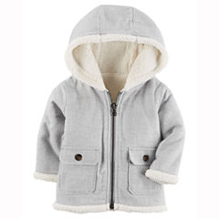 Carter's Flannel Midweight Softshell Jacket-Baby Boys