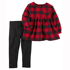 Carter's 2-pc. Checked Pant Set Baby Girls