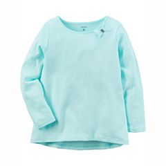 Carter's Long Sleeve Round Neck T-Shirt-Baby Girls
