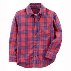 Carter's Long Sleeve Plaid Flannel Shirt-Baby Boys