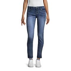 Rampage Stud Hem Skinny Jeans -Juniors