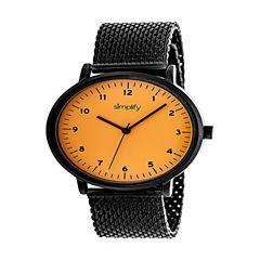 Simplify Unisex Black Strap Watch-Sim3207