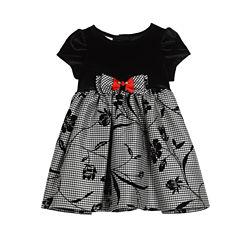 Marmellata Short Sleeve Pattern A-Line Dress - Baby Girls