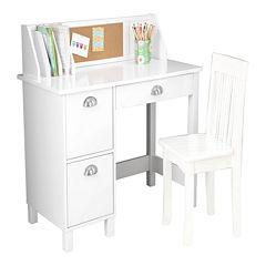 KidKraft® Study Desk with Drawers - White
