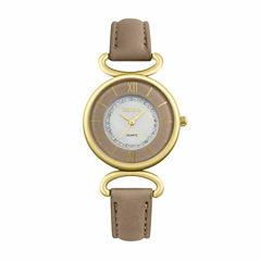 Geneva Womens Brown Strap Watch-Pt1998gdtn