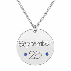 Personalized Birthstone Date Pendant Necklace