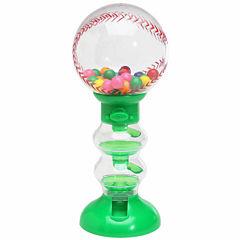 Sweet N Fun Baseball Gumball Machine Bank with Gumballs