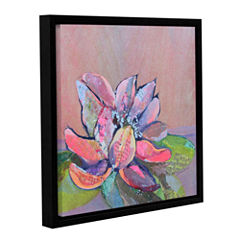 Brushstone Lotus 4 Gallery Wrapped Floater-Framed Canvas Wall Art