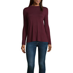 T.D.C Long Sleeve Lace Up Back Top