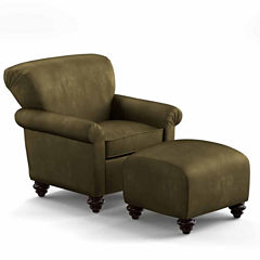 Frank Upholstered Chair and Ottoman