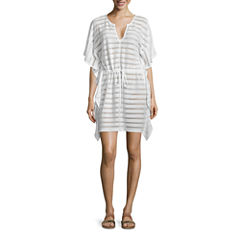 Porto Cruz Stripe Knit Swimsuit Cover-Up Dress