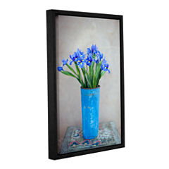 Brushstone Iris Flowers Gallery Wrapped Floater-Framed Canvas Wall Art
