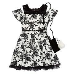Knit Works Short Sleeve Cold Shoulder Sleeve Skater Dress - Big Kid Girls
