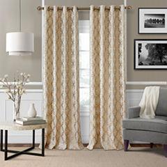 Elrene Zelda Metallic Grommet-Top Curtain Panel