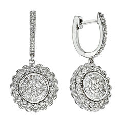 Diamond Blossom 1 CT. T.W. White Diamond 14K Gold Drop Earrings