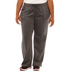 St. John's Bay Active Basic Fleece Pant-Plus